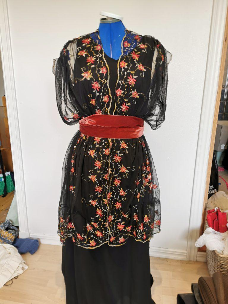 Små og store gleder: Fleece kjole med hjerte